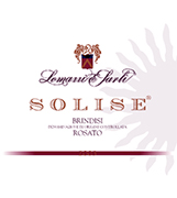 """Solise"" D.O.C. ""Brindisi"" Rosé wine, grapes: Negroamaro 100%, The grapes are picked and carried to the winery on small carts. After crushing and stemming the product is introduced into a wine-making inox tanks where it is mixed up with peels annd must for 3-4 hours. After racking the must can ferment without peels under controlled tamperature in tanks of 50 hl. Alcohol 12,10 % vol. Total acidity 5,60 g/l Total sulphorous dioxide 80 mg/l pH 3,56 Gastonomic combination Hors d'oevre, soups, boiler meats, fish sauces,white meat, cheese and pizza"
